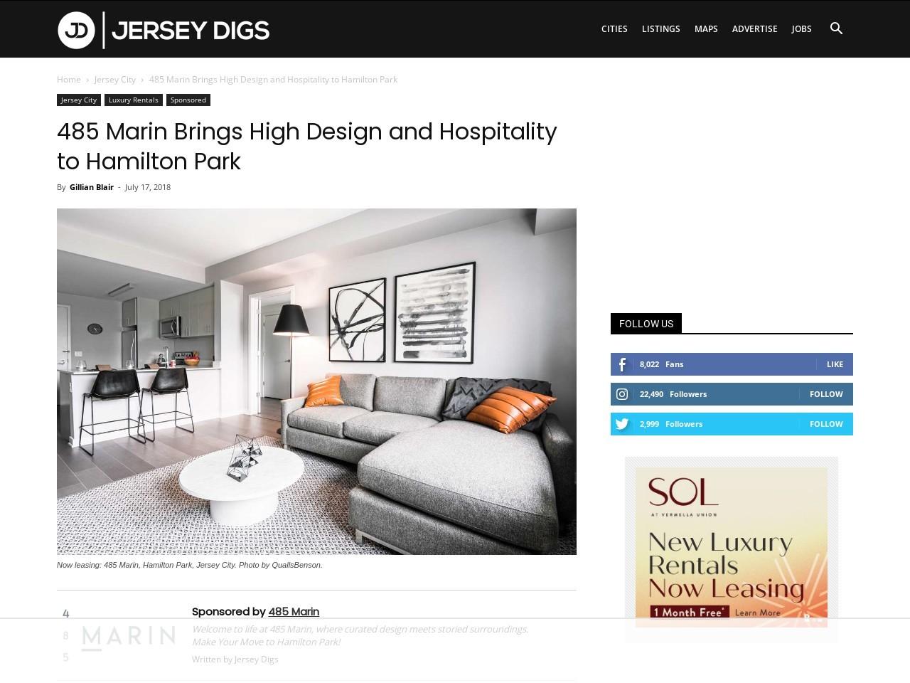 485 Marin Brings High Design and Hospitality to Hamilton Park