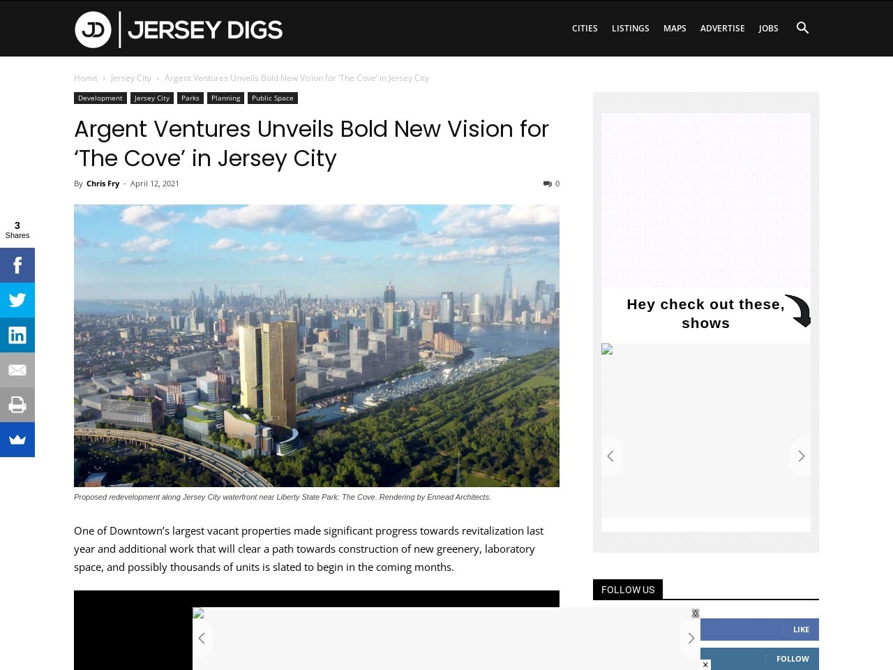Argent Ventures Unveils Bold New Vision for 'The Cove' in Jersey City