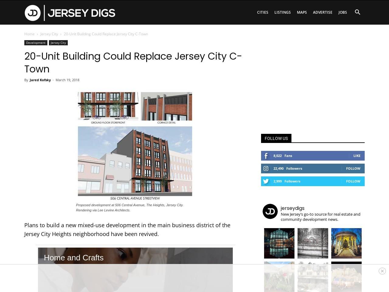 20-Unit Building Could Replace Jersey City C-Town
