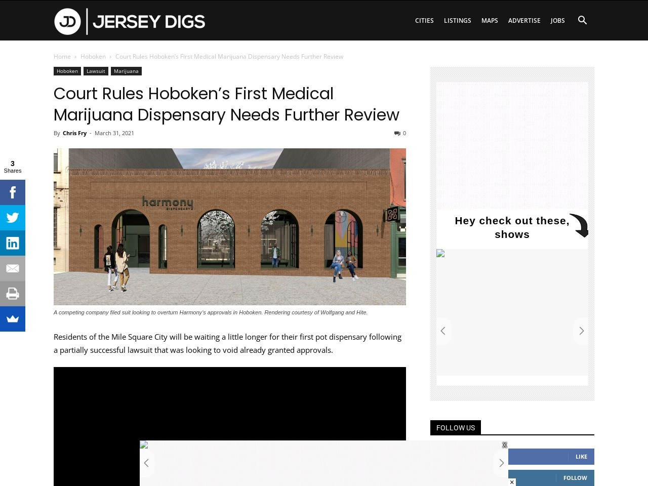 Court Rules Hoboken's First Medical Marijuana Dispensary Needs Further Review