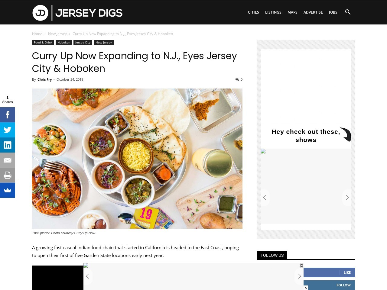 Curry Up Now Expanding to N.J., Eyes Jersey City & Hoboken
