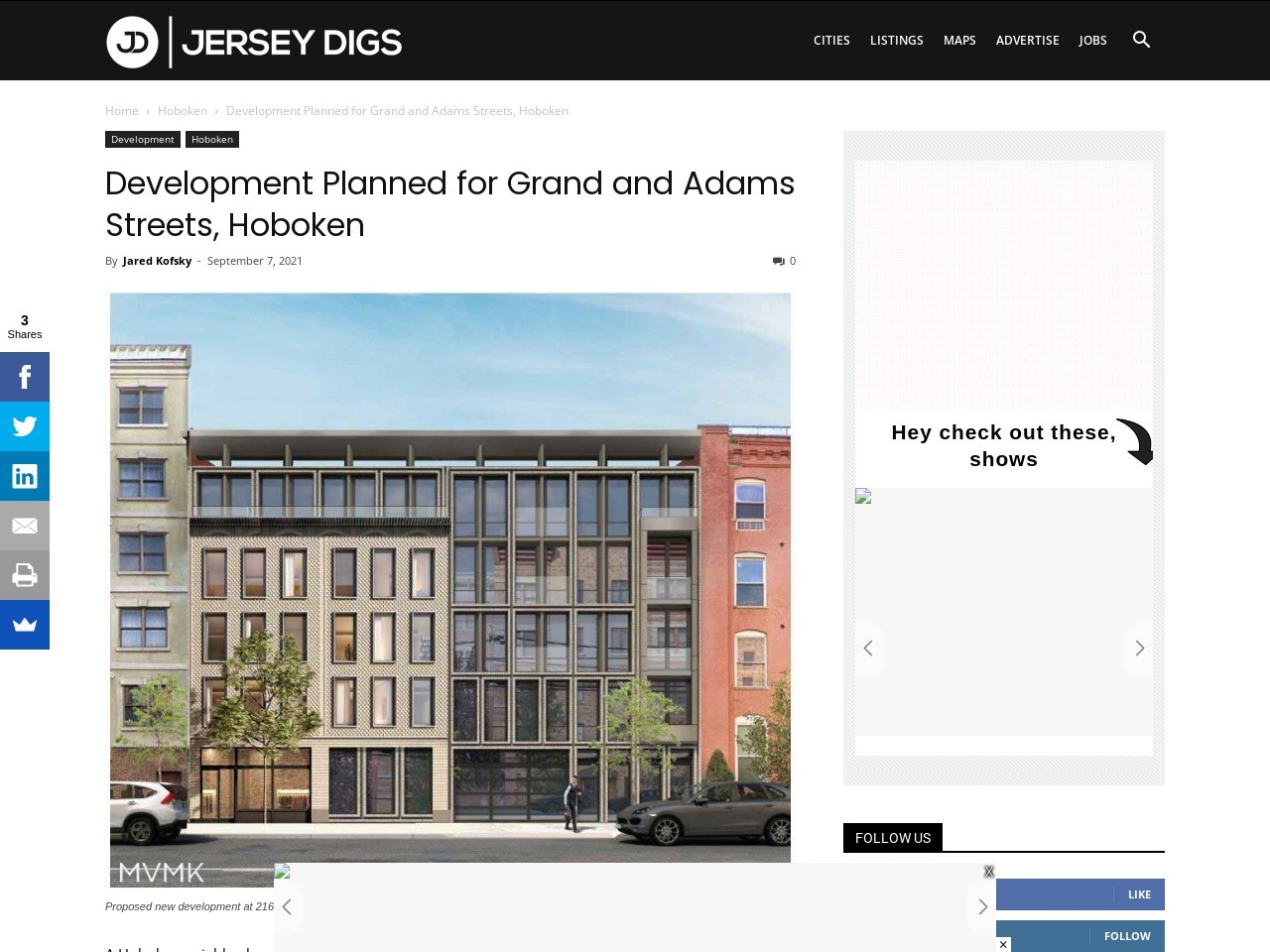 Development Planned for Grand and Adams Streets, Hoboken