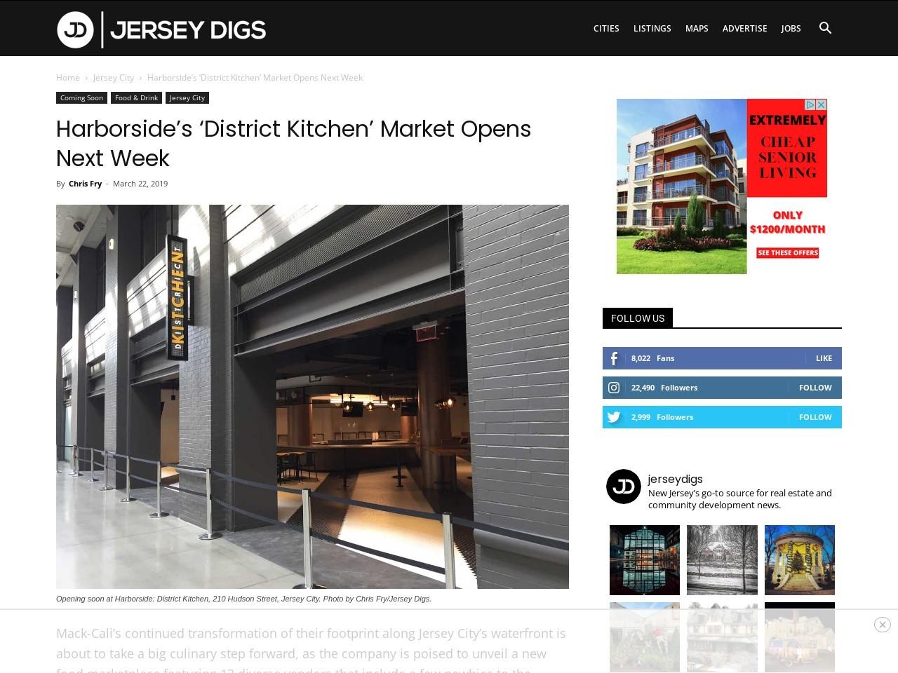 Harborside's 'District Kitchen' Market Opens Next Week