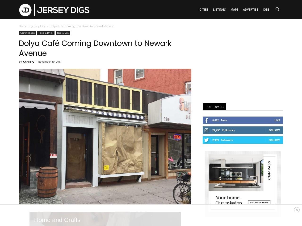 Dolya Café Coming Downtown to Newark Avenue