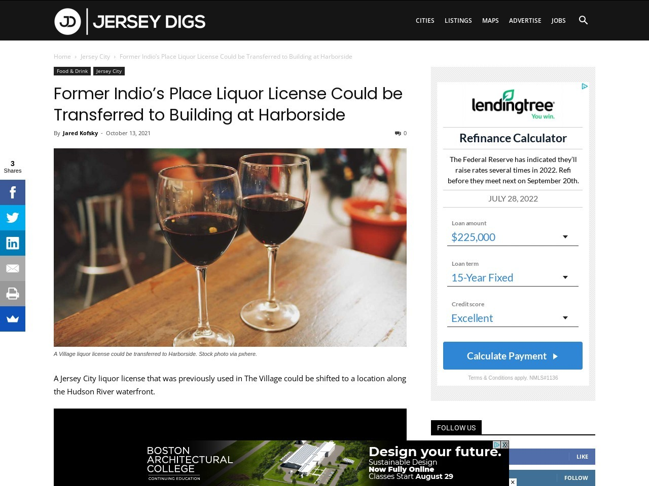 Former Indio's Place Liquor License Could be Transferred to Building at Harborside