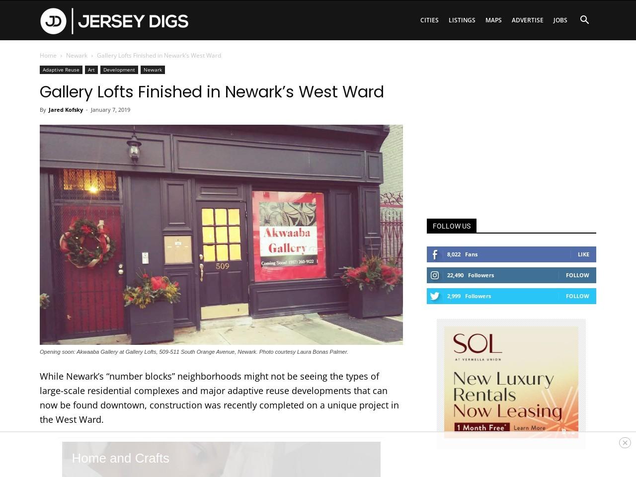 Gallery Lofts Finished in Newark's West Ward