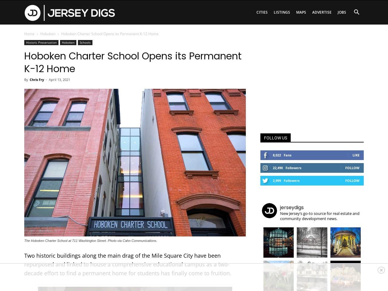 Hoboken Charter School Opens its Permanent K-12 Home