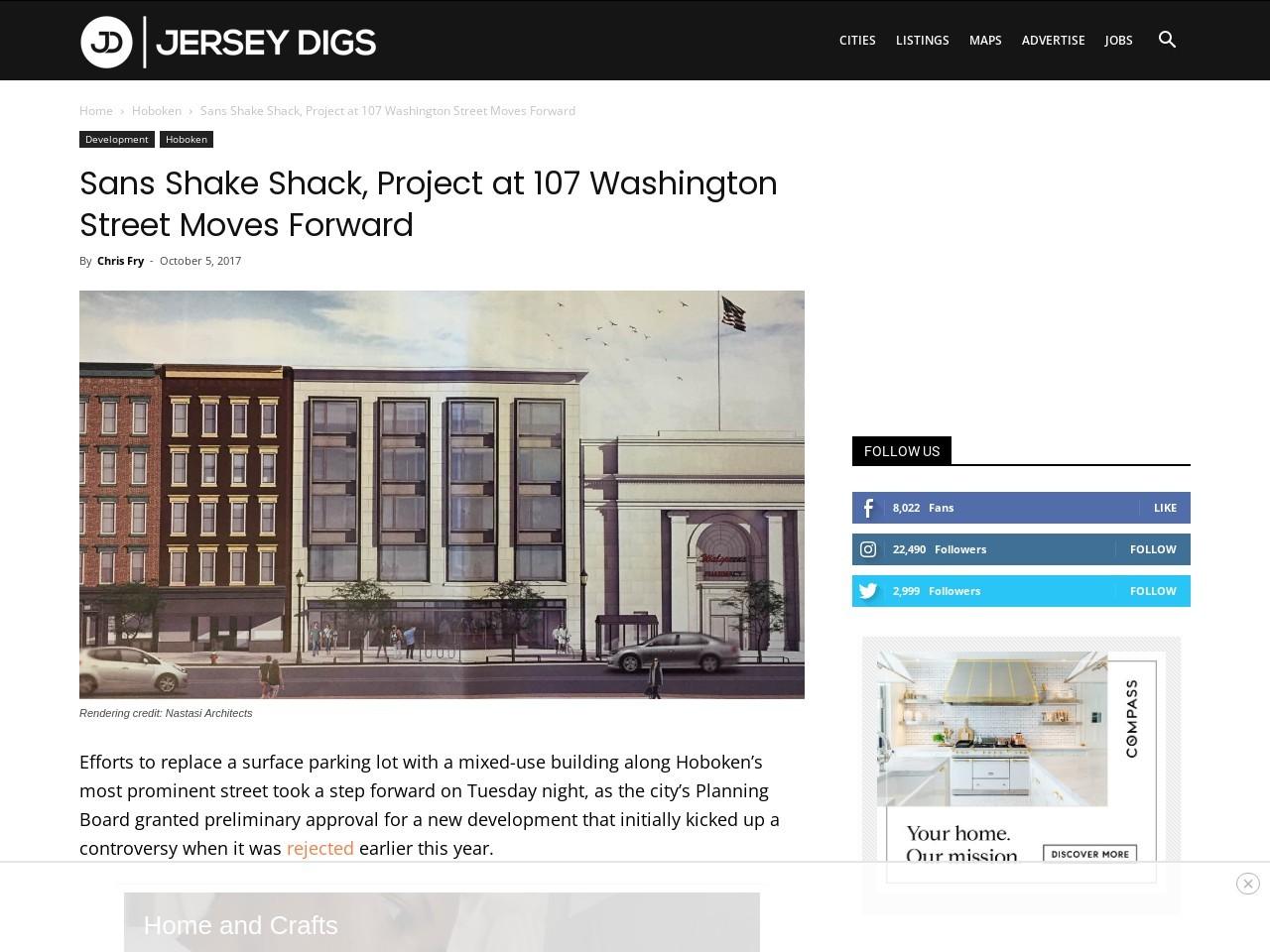 Sans Shake Shack, Project at 107 Washington Street Moves Forward