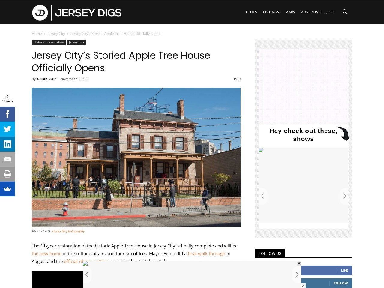Jersey City's Storied Apple Tree House Officially Opens