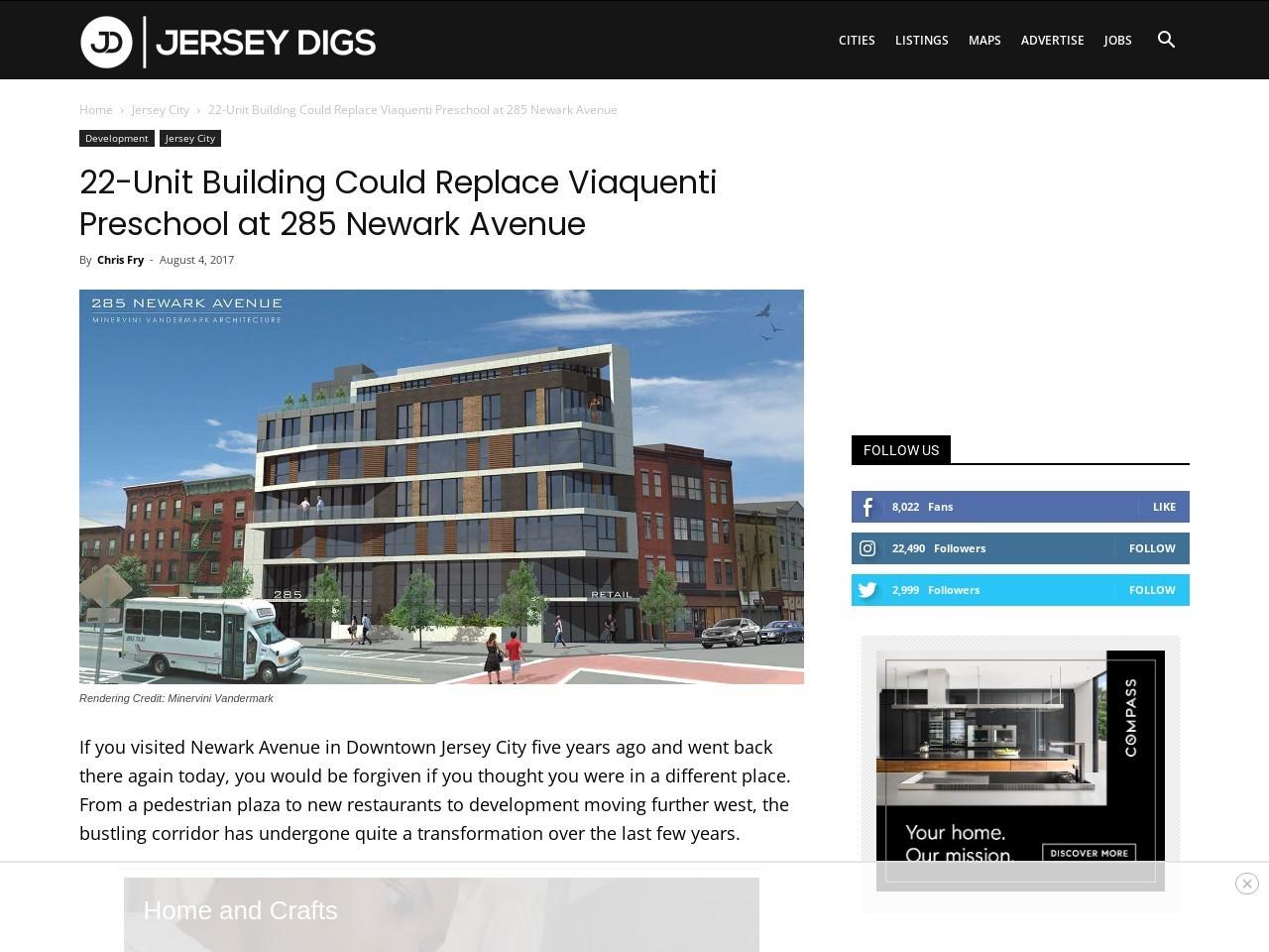 22-Unit Building Could Replace Viaquenti Preschool at 285 Newark Avenue