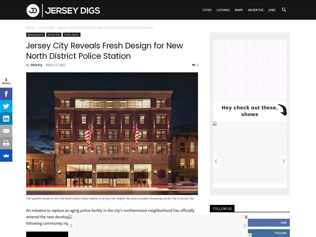 Jersey City Reveals Fresh Design for New North District Police Station