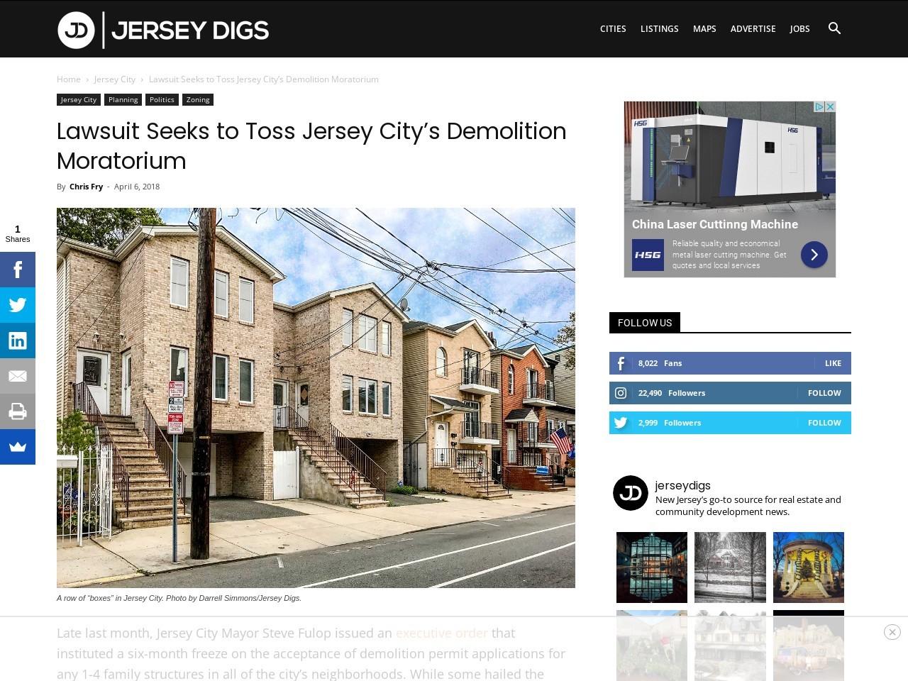 Lawsuit Seeks to Toss Jersey City's Demolition Moratorium