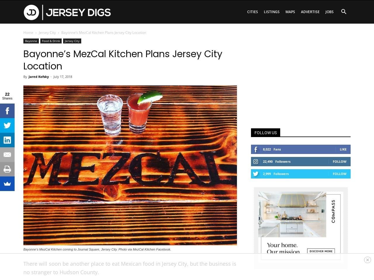 Bayonne's MezCal Kitchen Plans Jersey City Location