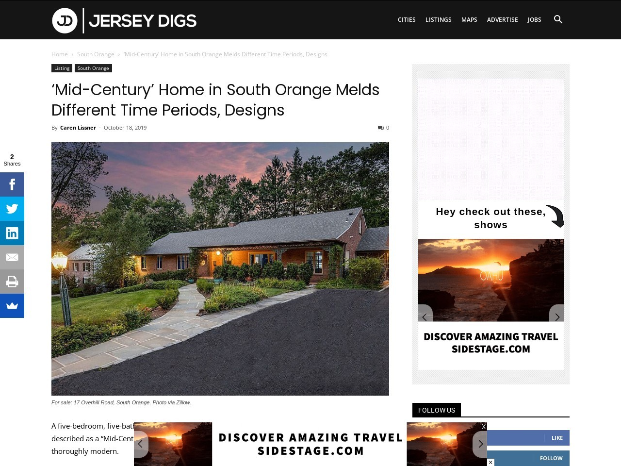 'Mid-Century' Home in South Orange Melds Different Time Periods, Designs