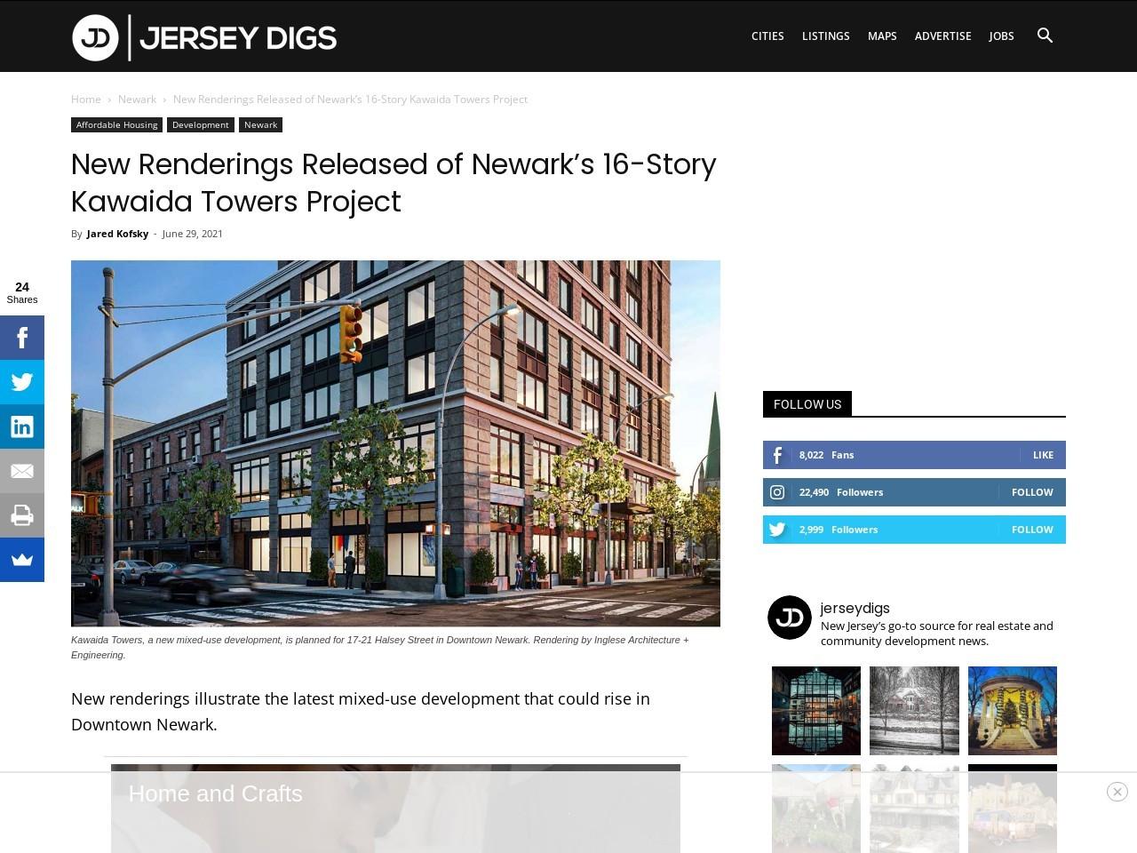 New Renderings Released of Newark's 16-Story Kawaida Towers Project
