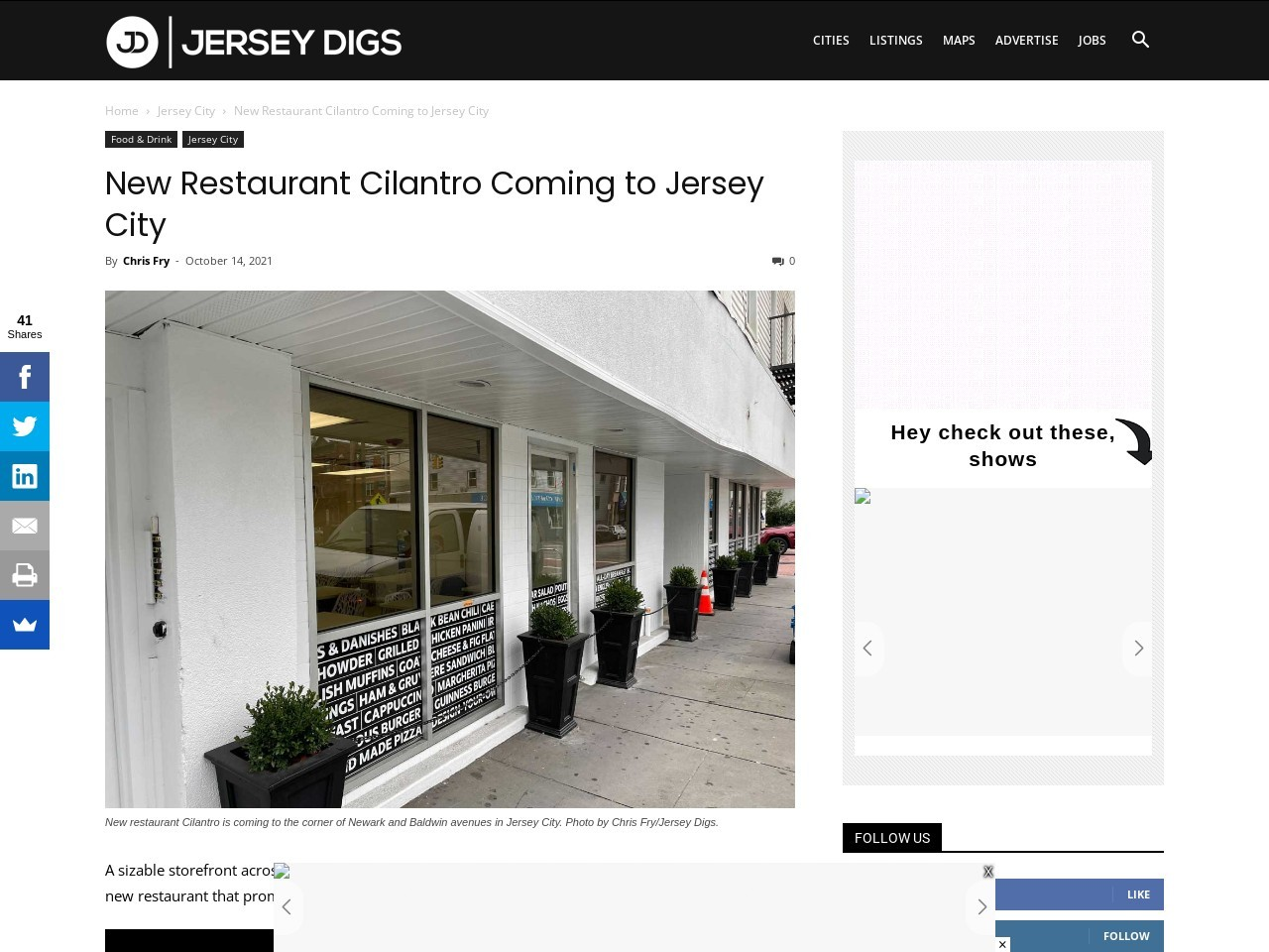 New Restaurant Cilantro Coming to Jersey City