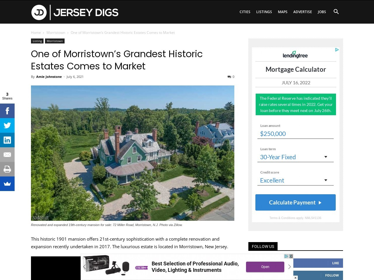 One of Morristown's Grandest Historic Estates Comes to Market