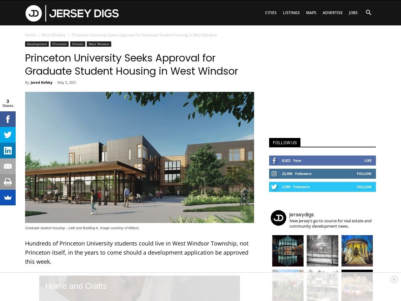 Princeton University Seeks Approval for Graduate Student Housing in West Windsor