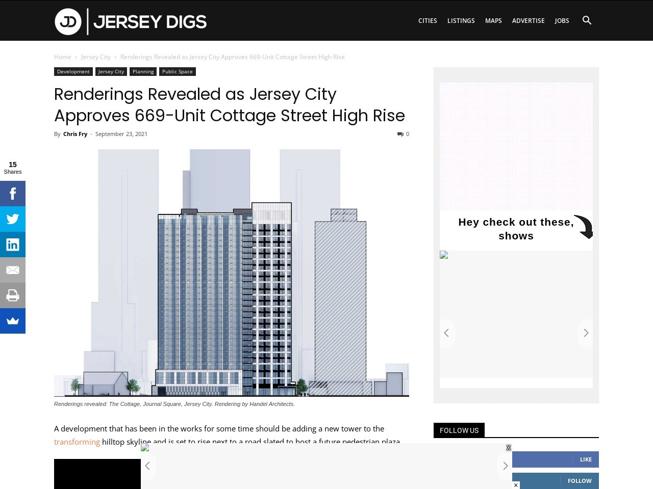 Renderings Revealed as Jersey City Approves 669-Unit Cottage Street High Rise