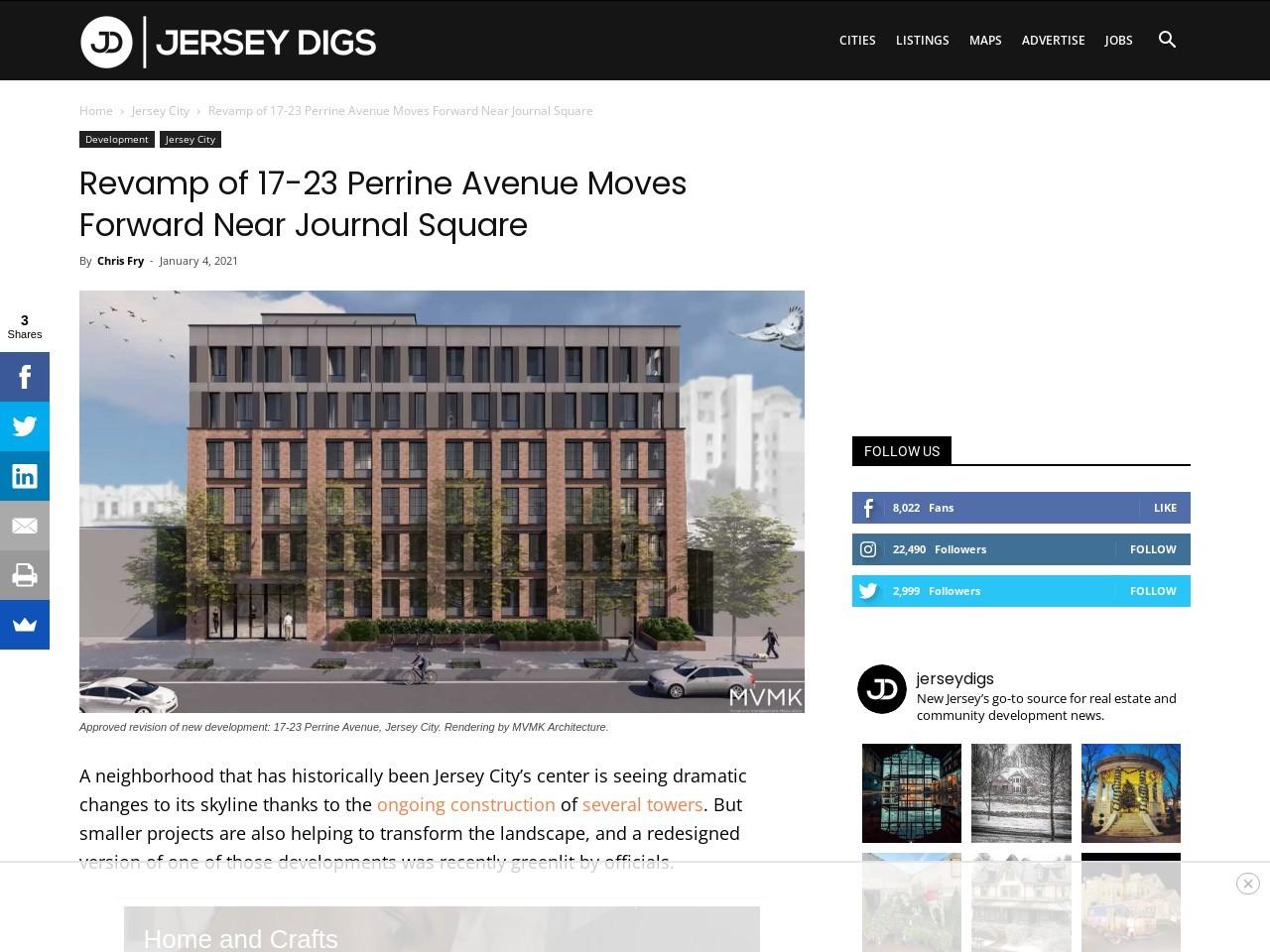 Revamp of 17-23 Perrine Avenue Moves Forward Near Journal Square