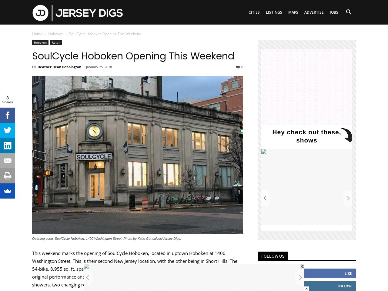 SoulCycle Hoboken Opening This Weekend
