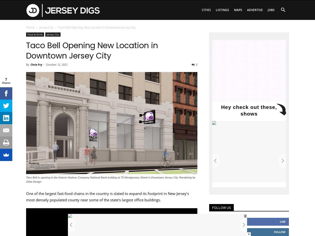Taco Bell Opening New Location in Downtown Jersey City