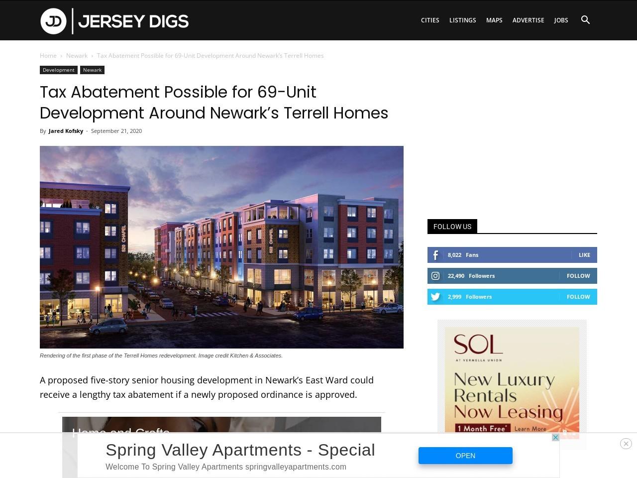Tax Abatement Possible for 69-Unit Development Around Newark's Terrell Homes