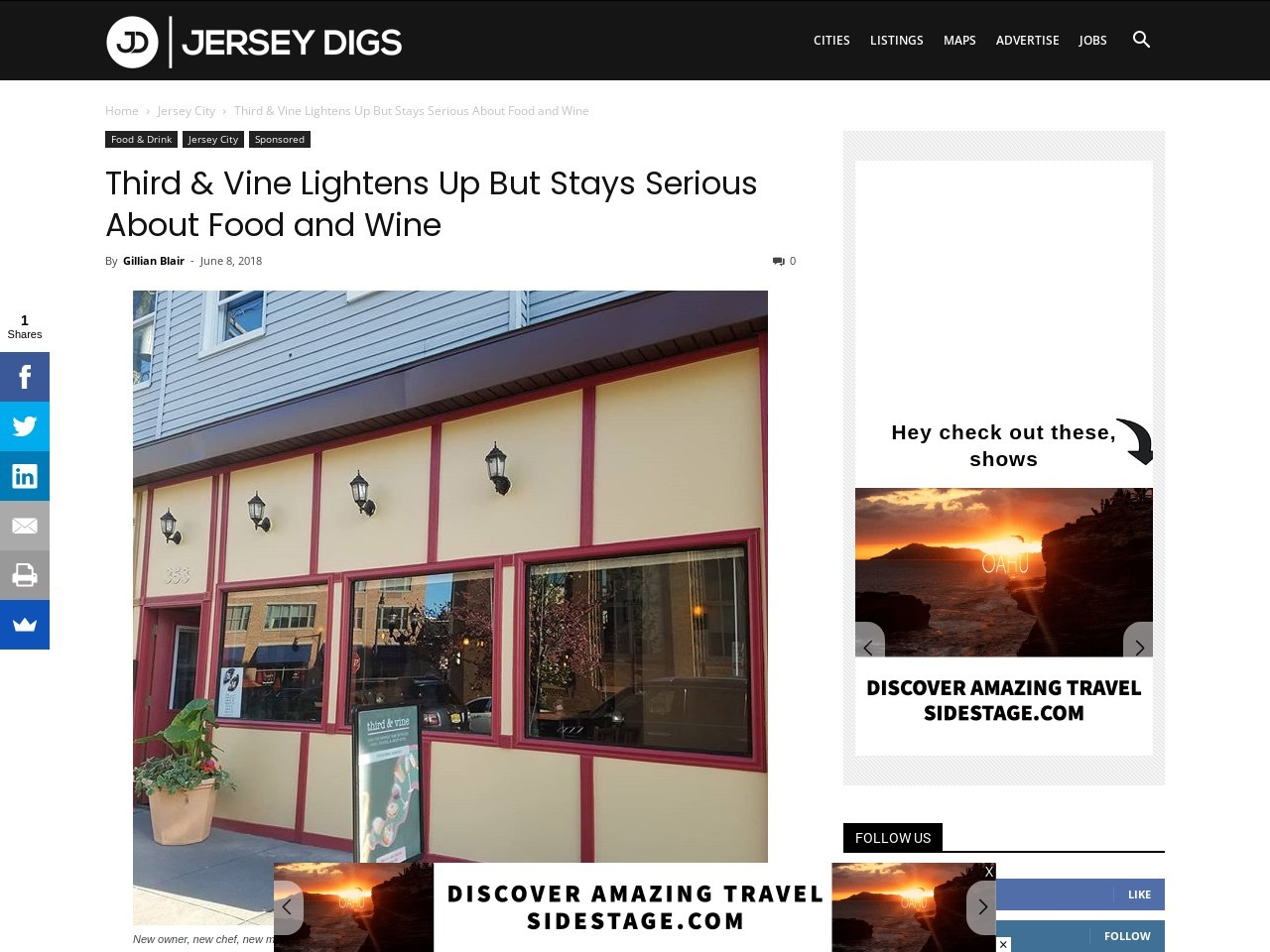 Third & Vine Lightens Up But Stays Serious About Food and Wine