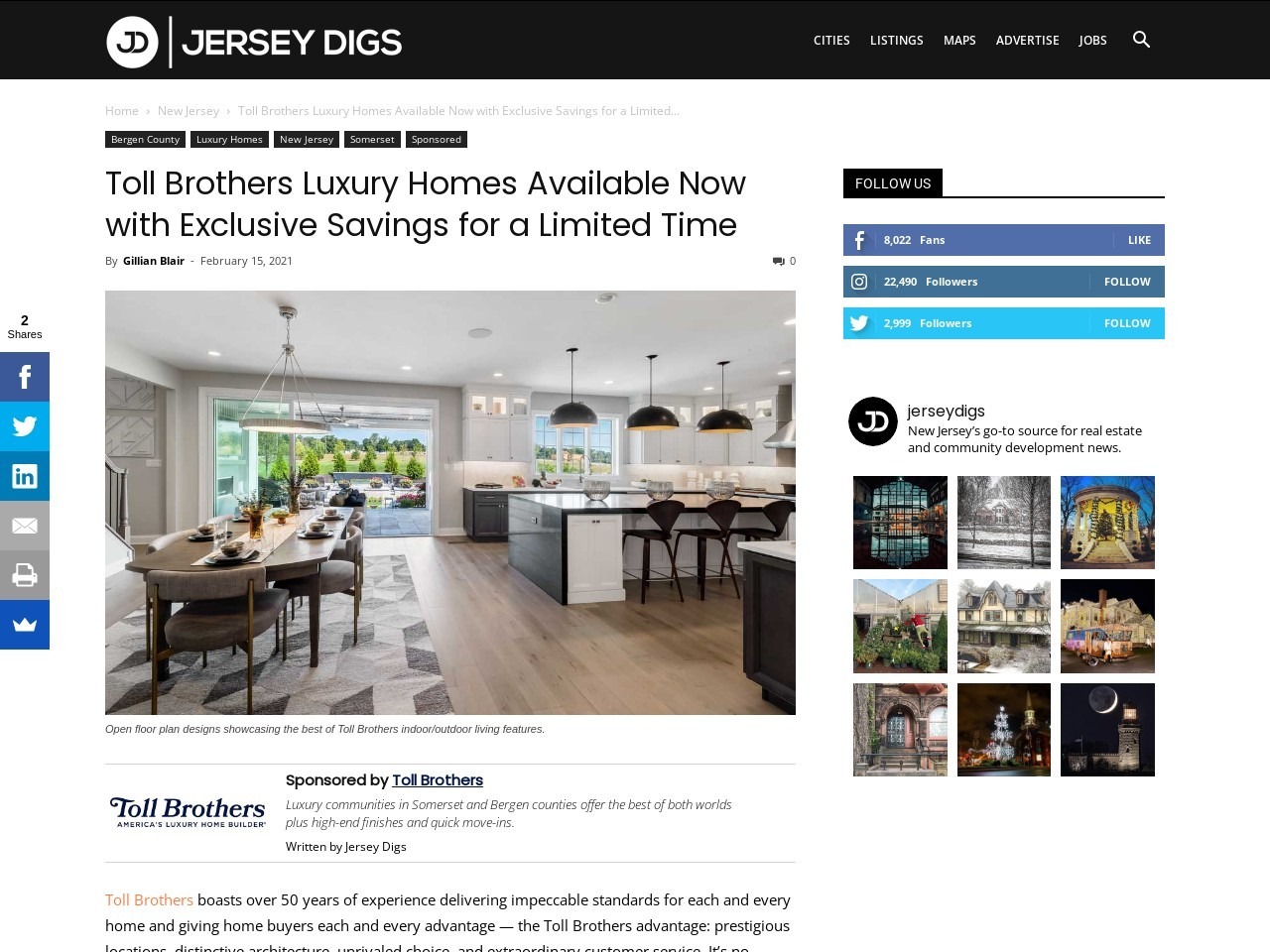 Toll Brothers Luxury Homes Available Now with Exclusive Savings for a Limited Time