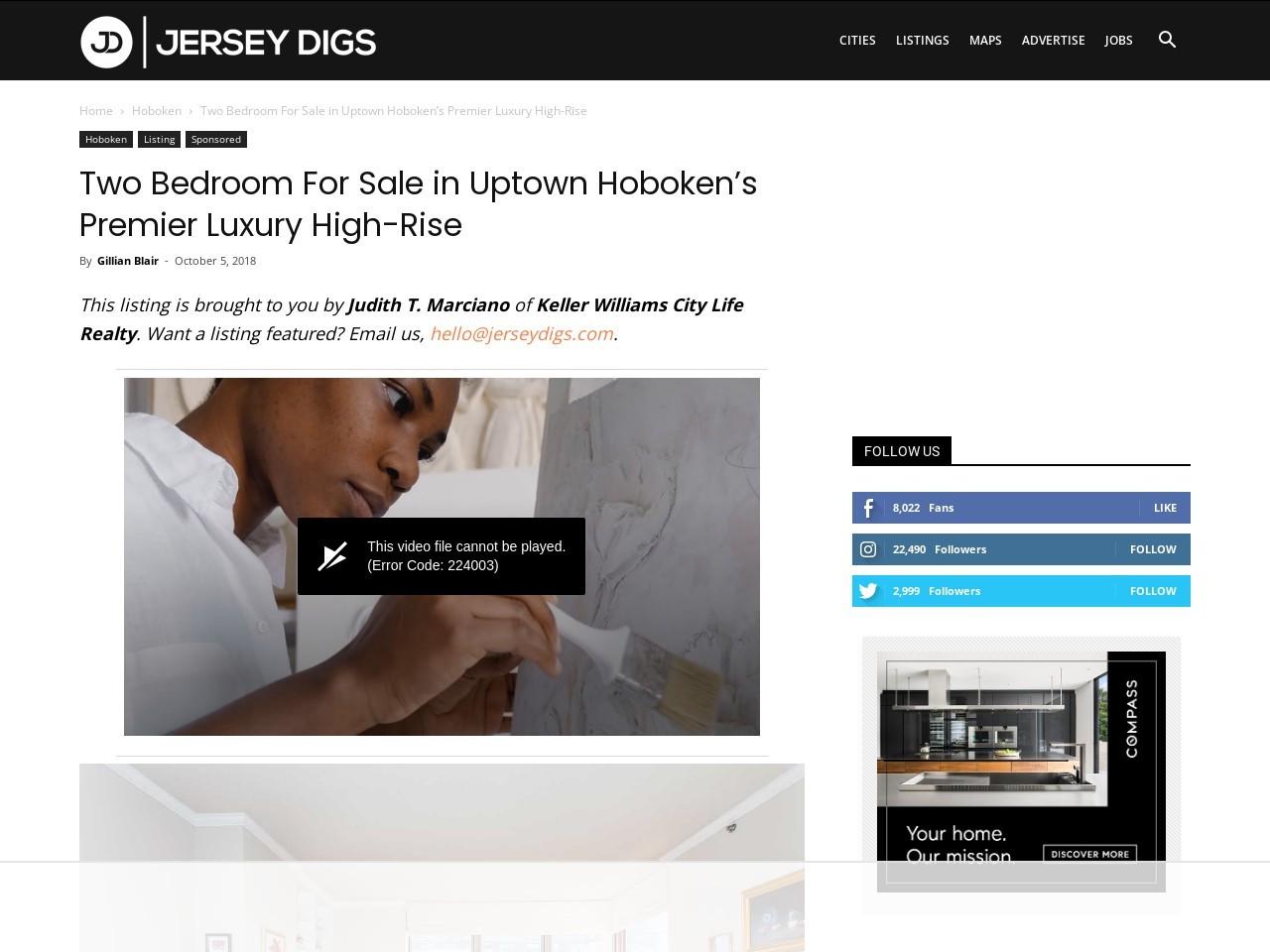 Two Bedroom For Sale in Uptown Hoboken's Premier Luxury High-Rise