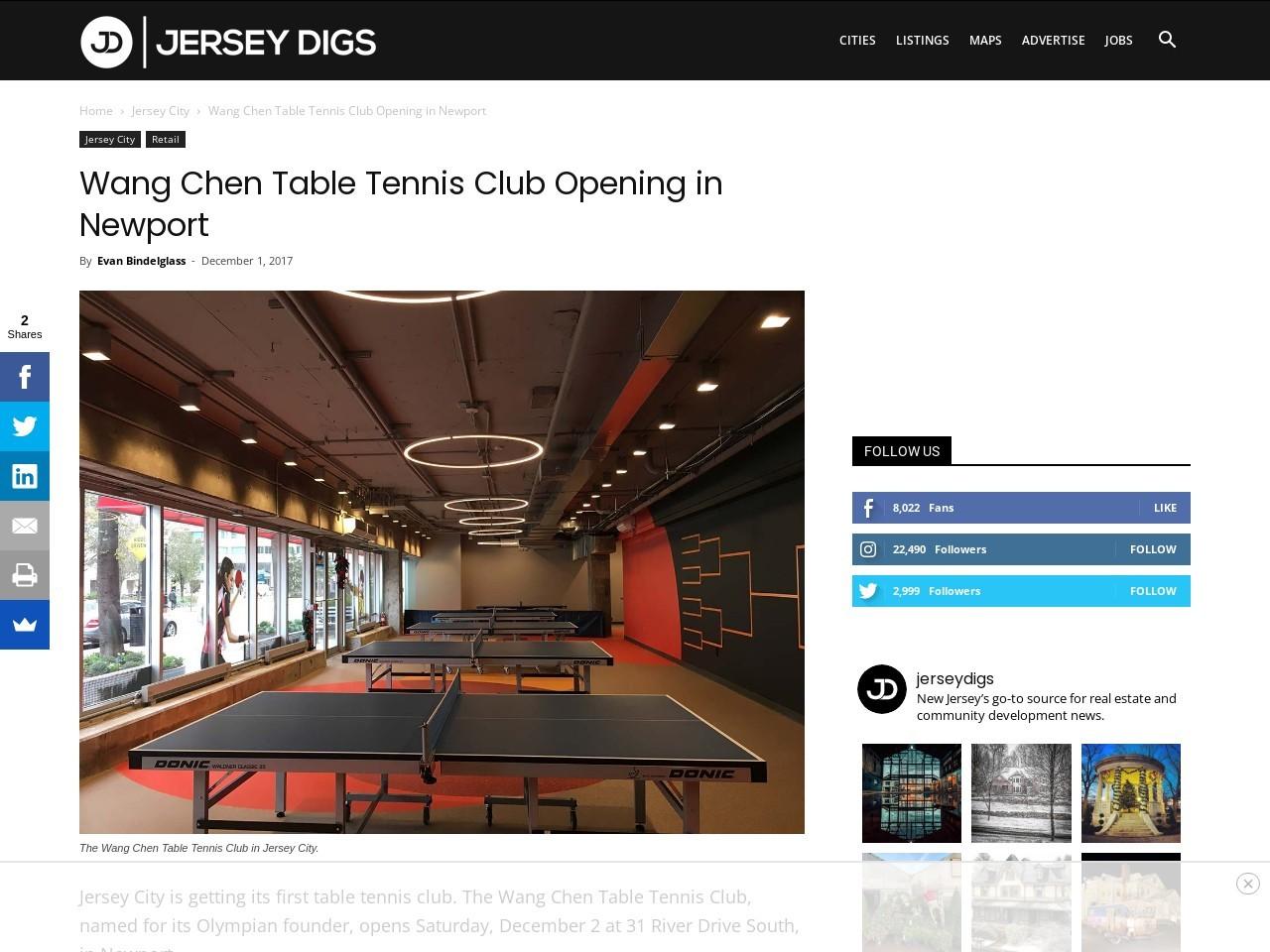 Wang Chen Table Tennis Club Opening in Newport