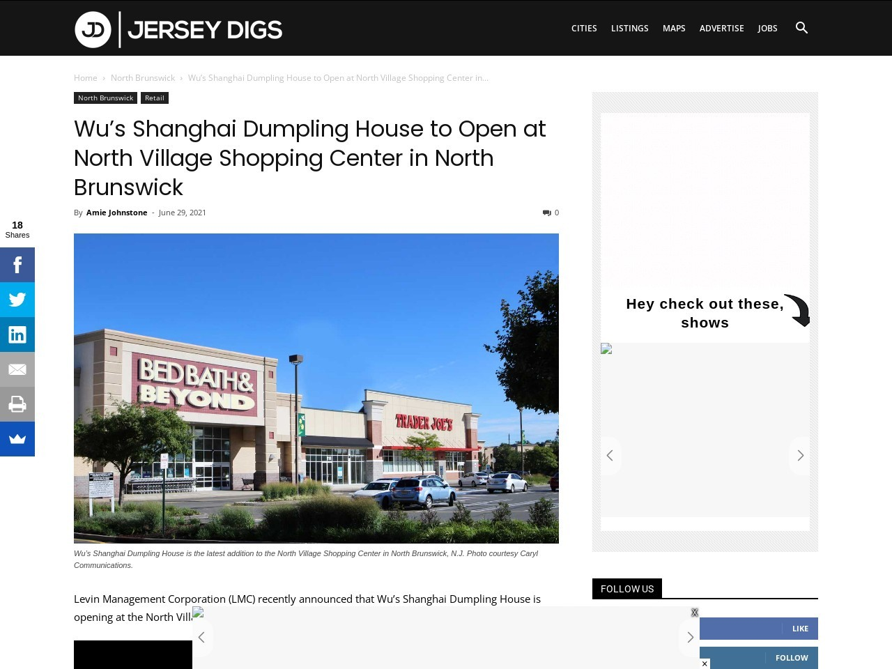 Wu's Shanghai Dumpling House to Open at North Village Shopping Center in North Brunswick