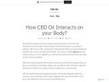 How CBD Oil Makes Your Body Feel