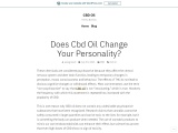Does CBD Oil Change Your Personality Traits