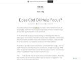 Does CBD Oil Help Focus The Brain