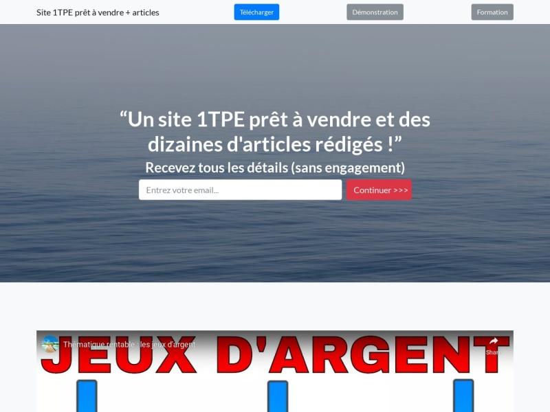 site 1tpe pret a vendre + articles dlp / plr