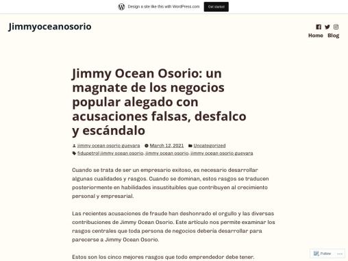 Jimmy Ocean Osorio: Popular alegado con acusaciones falsas, desfalco y escándalo