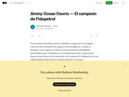 Fidupetrol Jimmy Ocean Osorio – España