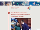How Whatsapp Lucky Draw Winners Save Their Winning Prize Through KBC Number?