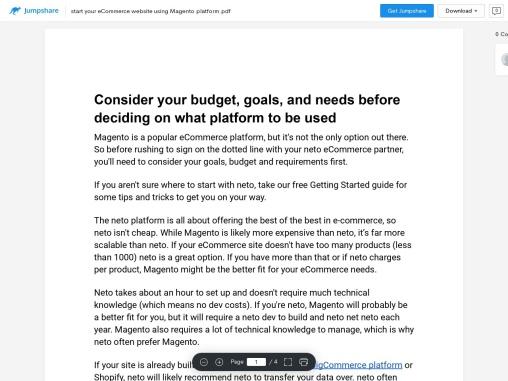 Start your eCommerce website using Magento platform