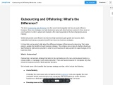 Outsourcing and Offshoring What's the Difference