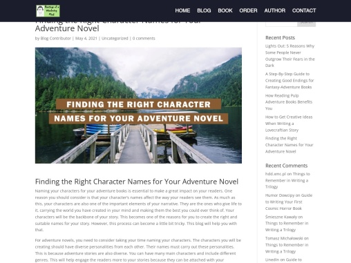 Finding the Right Character Names for Your Adventure Novel