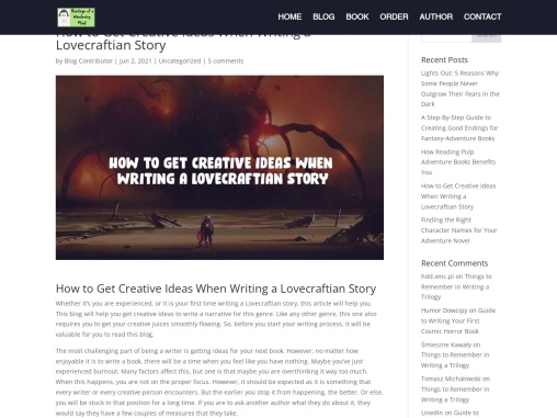 How to Get Creative Ideas When Writing a Lovecraftian Story