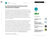 do-clinical-examination-businesses-permit-telecommute-for-analysts