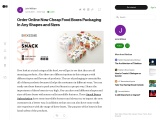 Order Online Now Cheap Food Boxes Packaging In Any Shapes and Sizes