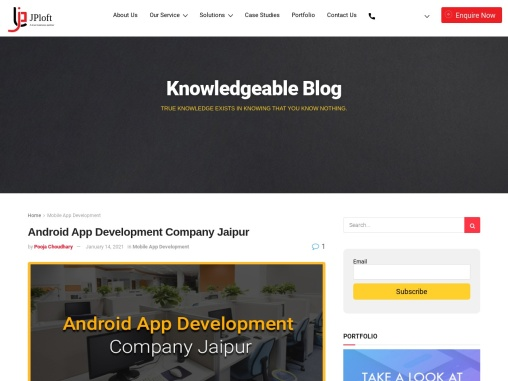 Android App Development Company Jaipur