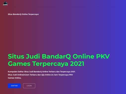 Situs Judi BandarQ Online Terpercaya