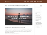 Ways to Have a Meaningful Journey with God
