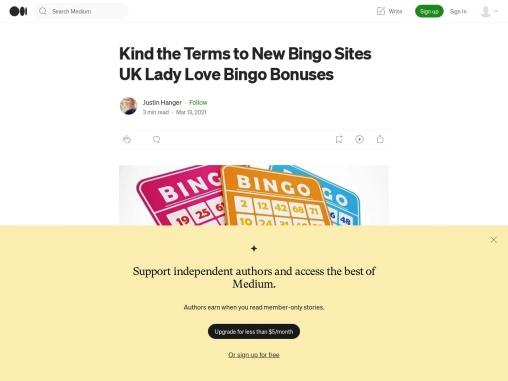 Kind the Terms to New Bingo Sites UK Lady Love Bingo Bonuses