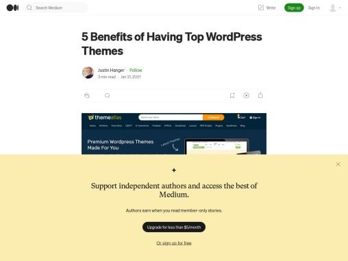 5 Benefits of Having Top WordPress Themes
